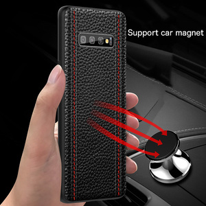Image 4 - Étui pour samsung de luxe en cuir véritable S10 PLUS S10 S10E S10Lite