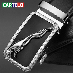 CARTELO Fashion Designers Automatic Buckle Genuine Leather Men Business High Quality Luxury Strap Male Belt for Strap Male