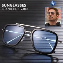 2019 Brand Iron Man Sunglasses Men Retro Designer Sun glasses