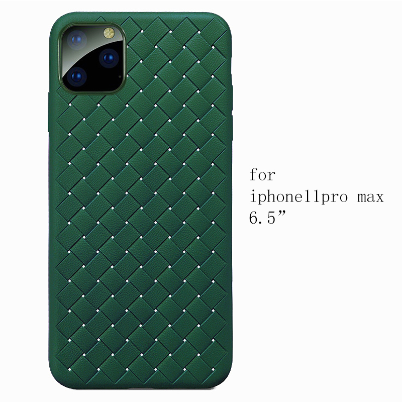 NEW Boomboos Classic cross leather pattern weaving breathable soft grid case for iPhone11 for iphone 11 NEW Boomboos Classic cross leather pattern weaving breathable soft grid case for iPhone11 for iphone 11 max for apple 11 pro