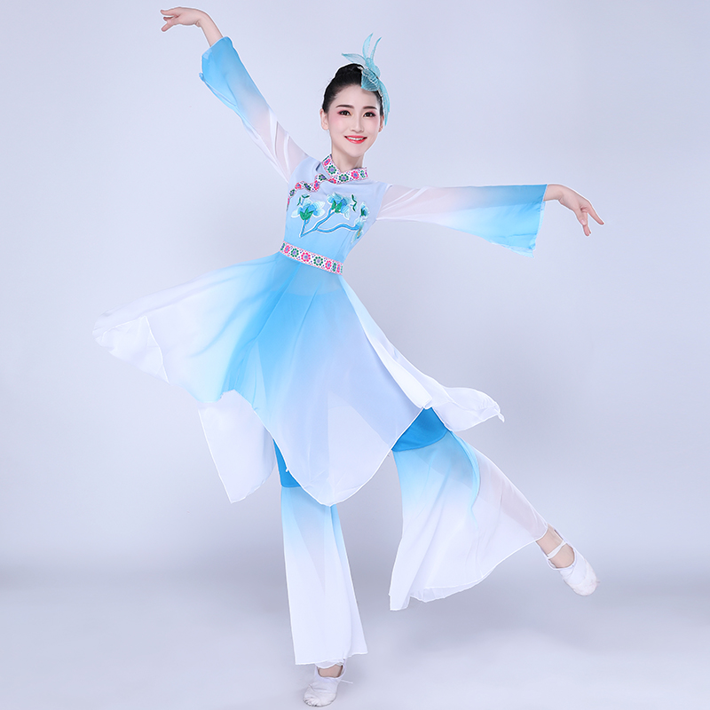 Бренд по выгодной цене с доставкой, Новая женская классика танцевальные костюмы 2019 новый китайский Стиль народного танца костюмы веер для