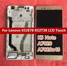 Ouro branco preto Para Lenovo K5 Nota A7020 A7020a48 K52t38 k52e78 DIsplay LCD Completa + Touch Screen Digitador Assembléia