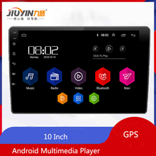 JIUYIN 10 Car Android Multimedia Player Quad Core 2 Din  Radio GPS Stereo RDS Audio for TOYOT Volkswagen Nissan Kia