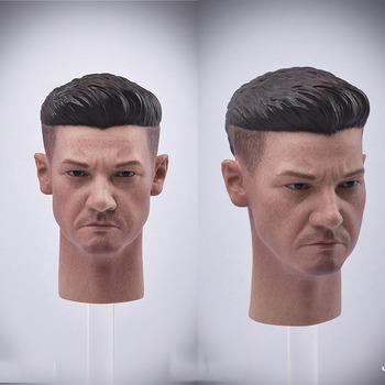 JXTOYS JX043 1 6 męski żołnierz Jeremy Renner głowa rzeźba rzeźba Model pasuje 12 cali figurka ciała tanie i dobre opinie Adult Adolesce MATERNITY W wieku 0-6m 7-12m 13-24m 25-36m 4-6y 7-12y 12 + y 18 + CN (pochodzenie) BOYS Not Real Stuff PIERWSZA EDYCJA