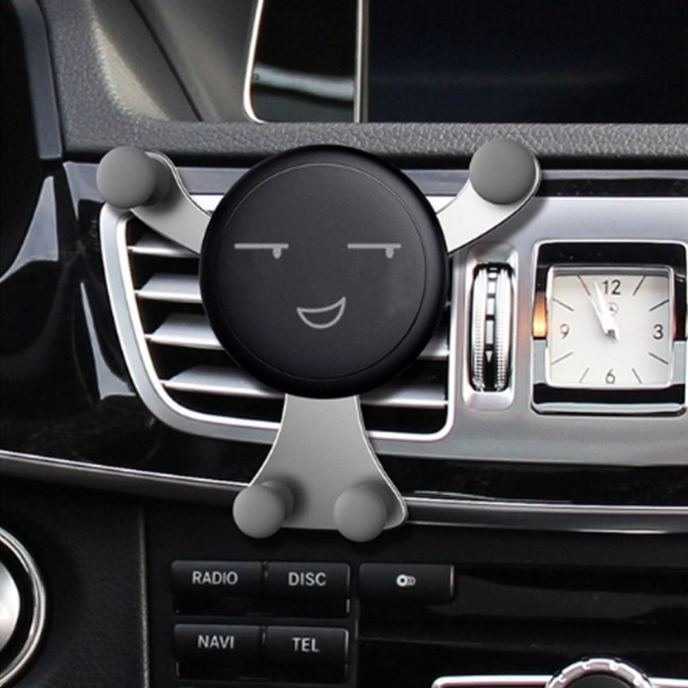 Kawaii Face Expression Design Car Air Vent Mount Holder Air Vent Vehicle Mount Cradle Holder Mount For Cell Phone