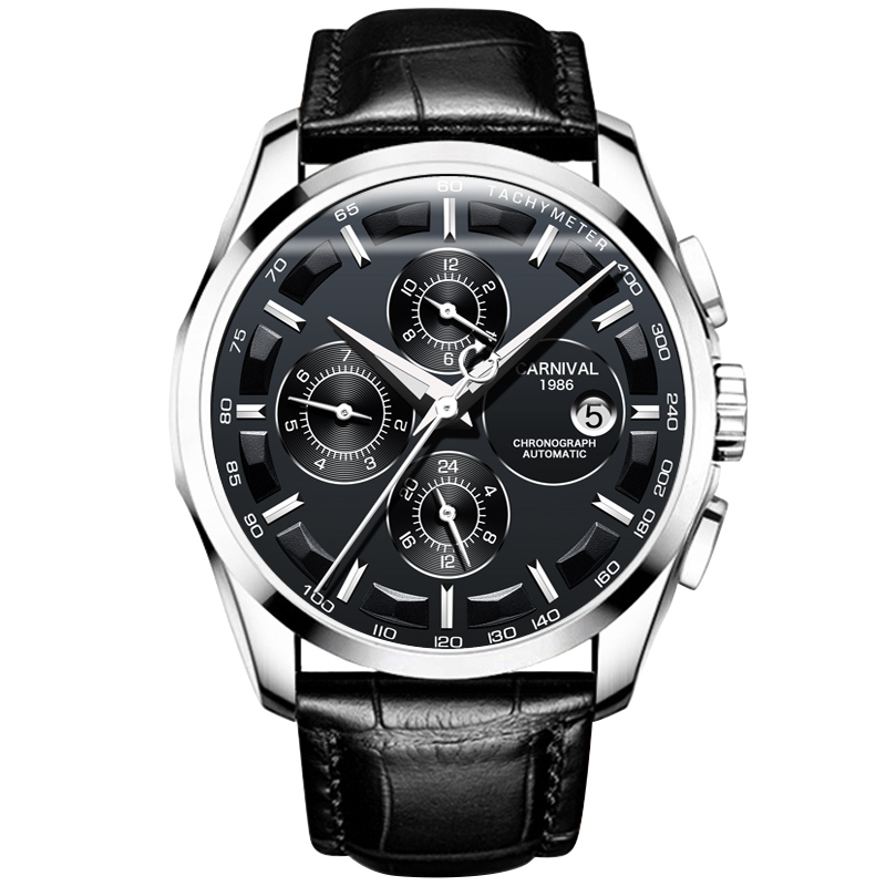 Man's Machinery Watch Fully Automatic Fashion Multifunctional Hollow-out Men's Watch
