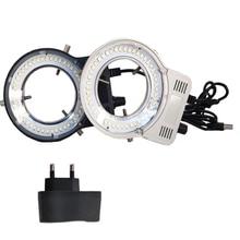 Ring-Light Magnifier Microscope Iluminator-Lamp Industrial-Camera Stereo Adjustable LED