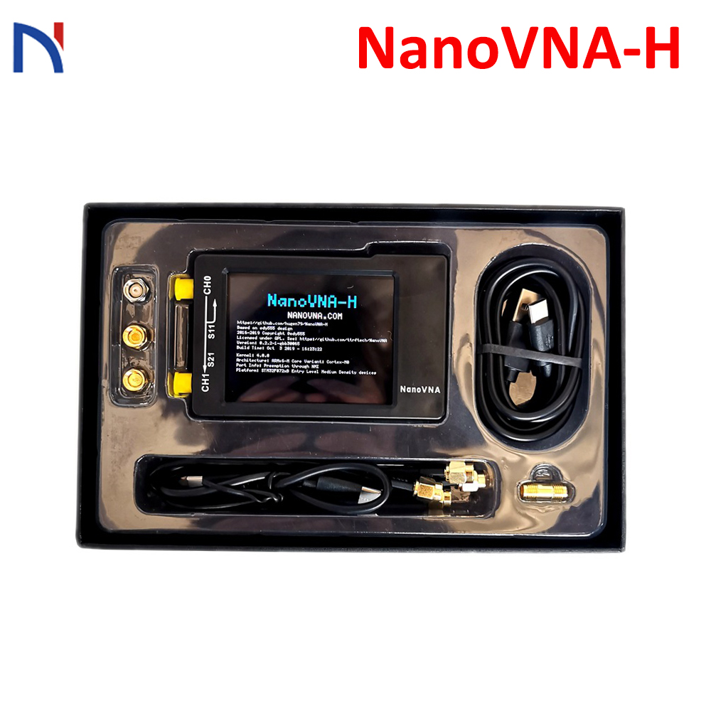 NanoVNA-H Vector Network Analyzer 50KHz~1.5GHz Nano VNA Shortwave HF VHF UHF UV Antenna Analyzer + Battery + LCD + Plastic Case
