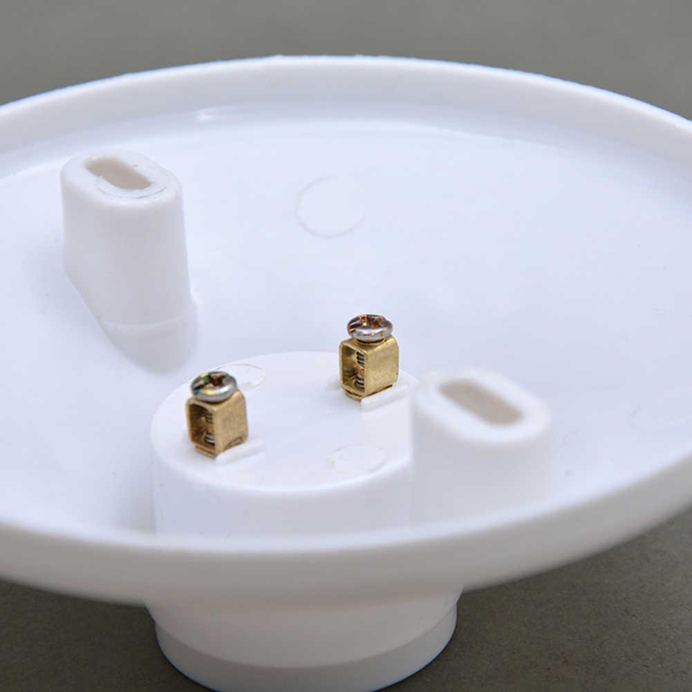 Белый Пластик E14 держатель лампы Высокое качество Тесты держатель E14 гнезда цоколя аксессуары для галогенные светодиодный домашнего освещения