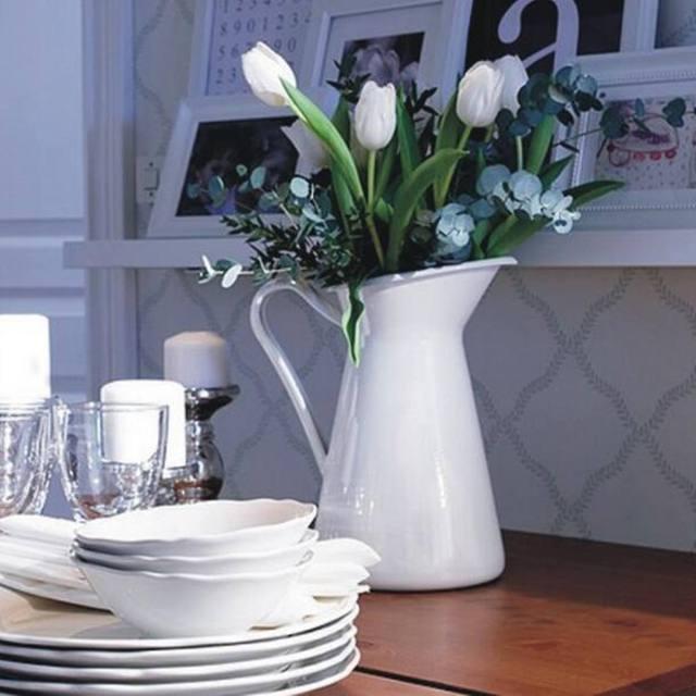 Flower-Vase Storage-Bucket-Tool Pitcher Container Wedding Home Decor Ornament Shabby Chic Cream Flower Vase Retro Iron Tub 2