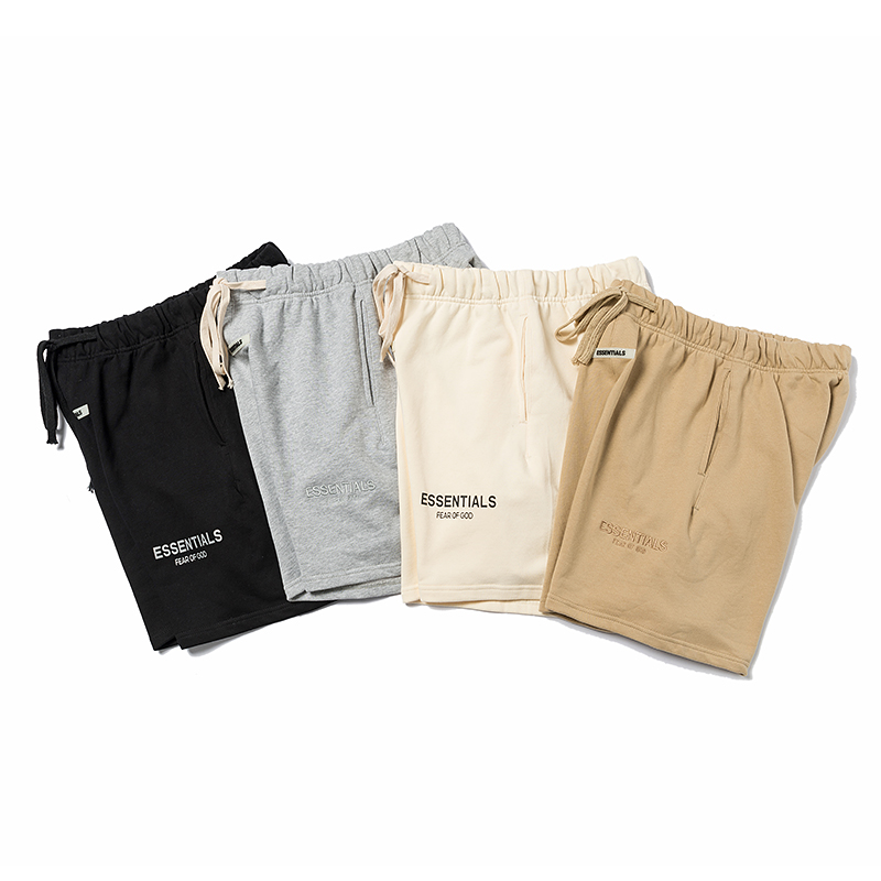 Essentials FOG Mens Sportswear Shorts Justin Bieber Shorts 3M Reflective Letter Printing Shorts Streetwear Fashion Shorts Cotton
