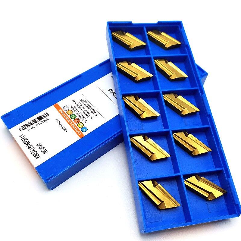 Image 5 - 100 pces knux160405r nc3020 carboneto de inserção de metal ferramenta de torneamento ferramenta de corte cnc super hard wear ferramenta knux 160405rFerr. torneam.   -