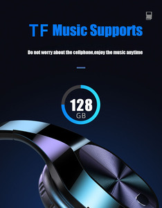 Image 3 - 3.5mm Jack HIFI stereo kablosuz kulaklık bluetooth kulaklık müzik kulaklık desteği SD TF kart mic için xiaomi smartphone tabletler