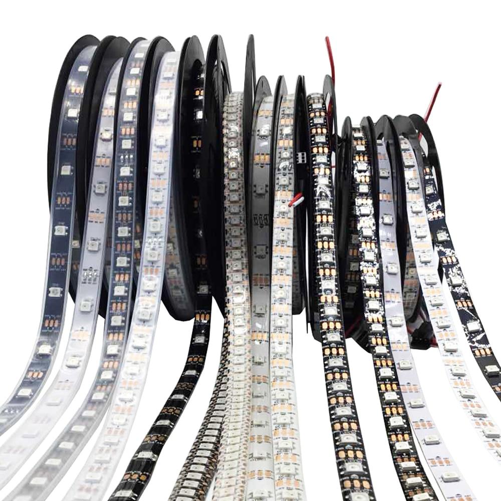 20 piezas, tira Led WS2812, 5m, 30, PCB IP30 negro Luces LED de pared para fiesta o Dj, 24 LEDs de Disco UV, Color Wash, luces LED de pared para Navidad, proyector láser, luces de pared