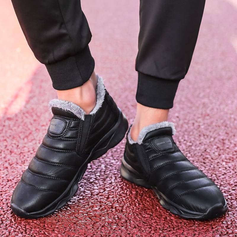 Image 5 - יוניסקס שלג מגפי גברים חורף חם קטיפה קרסול מגפי אופנה עמיד למים מגפי גברים באיכות חורף מקרית סניקרס מגפי נעלי 46מגפי שלגנעליים -