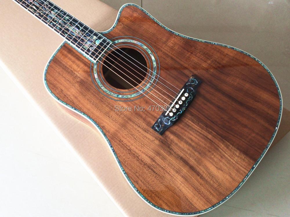 En STOCK, personnalisé en usine, modèle coupé, guitare acoustique KOA wood, guitare électrique 41