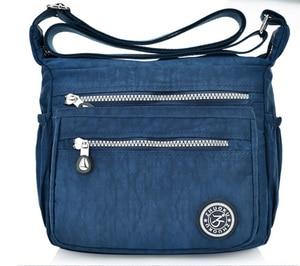 Image 3 - を新ヨーロッパスタイルのファッションの女性メッセンジャーバッグショルダーバッグキャンバス軽量ダブルポケット防水バッグ