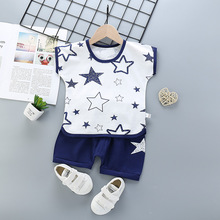 New Born Baby Clothes Set Baby Boy Clothes Cool Boy Toddler Wears Clothing For Baby Children Boy Girl Cloths cheap COTTON Active O-Neck Sets Pullover Short REGULAR Fits true to size take your normal size Combed Cotton Star Unisex