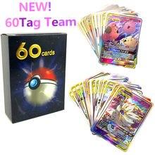 Tarjeta de juego Pokemon, 10, 20, 30, 40, 50, 60 Uds., tag team Mewtwo, Charizard, Eva, novedad de 2019