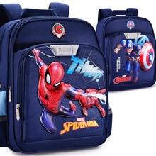 Disney  Spiderman Cartoon Schoolbag Kids Backpack Girls Children Boys Ironman  Backpack Book Bags Waterproof Bag