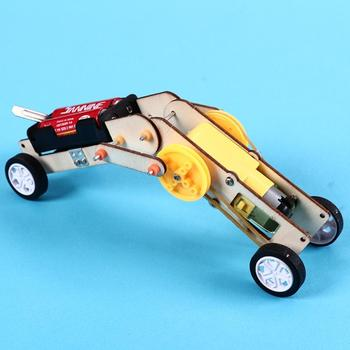 Kid DIY Assembly Electric Crawling Worm Robot Model School Science Experiment Toy недорого