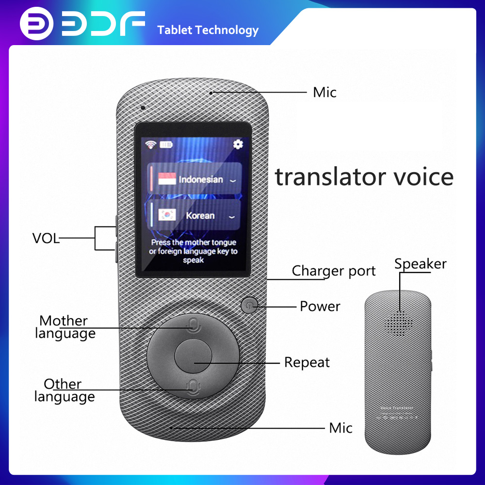 2.4 Inch Screen Translate Machine Portable Wifi Device Smart Voice  Tourism Shopping Conversation Meetings Special Purpose