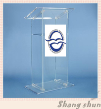 Gorąca sprzedaż przezroczysty akrylowy ambona kościelna Podium na Podium mównica kościelna tanie tanio CN (pochodzenie) Meble biurowe 60cm x40cmx120cm acrylic Biurko recepcji Meble komercyjne Maxway School Furniture Commercial Furniture