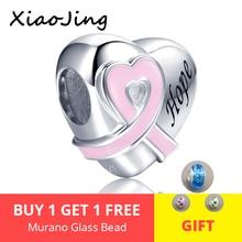 925 sterling silver Beads Heart Shape Belt Pink Enamel Charms fit pandora charm bracelet fashion jewelry Making for women gifts