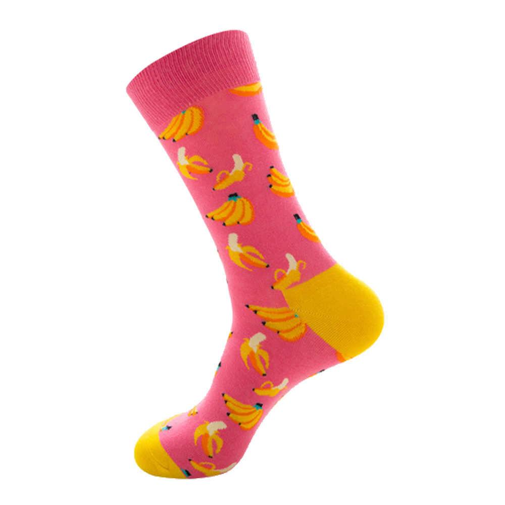 Männer Socken Lustige Nette Cartoon Grafiken Früchte Orange Farbe Kirsche Banane Erdbeere Japanischen Harajuku skateboard Socke