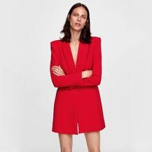 ZA Fashion Long Sleeve Women's Suit Long Slim Business Uniform Official Double B
