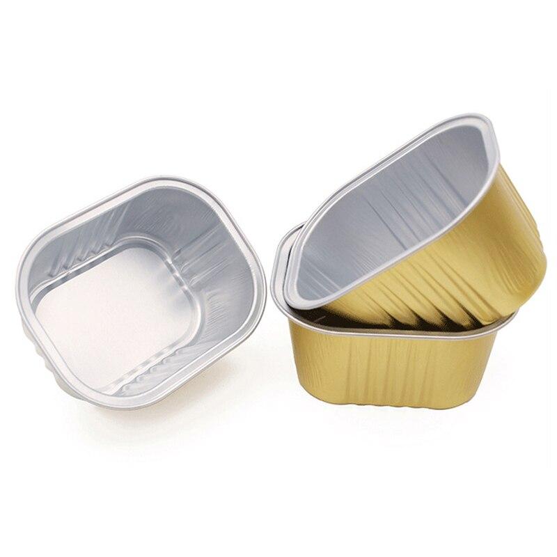 1/5/10pcs Gold Melting Wax Beans Bowl Rectangle Aluminum Foil Depilatory Bowls Waxing Hot Film Hard Wax Pellet Hair Removal Tool