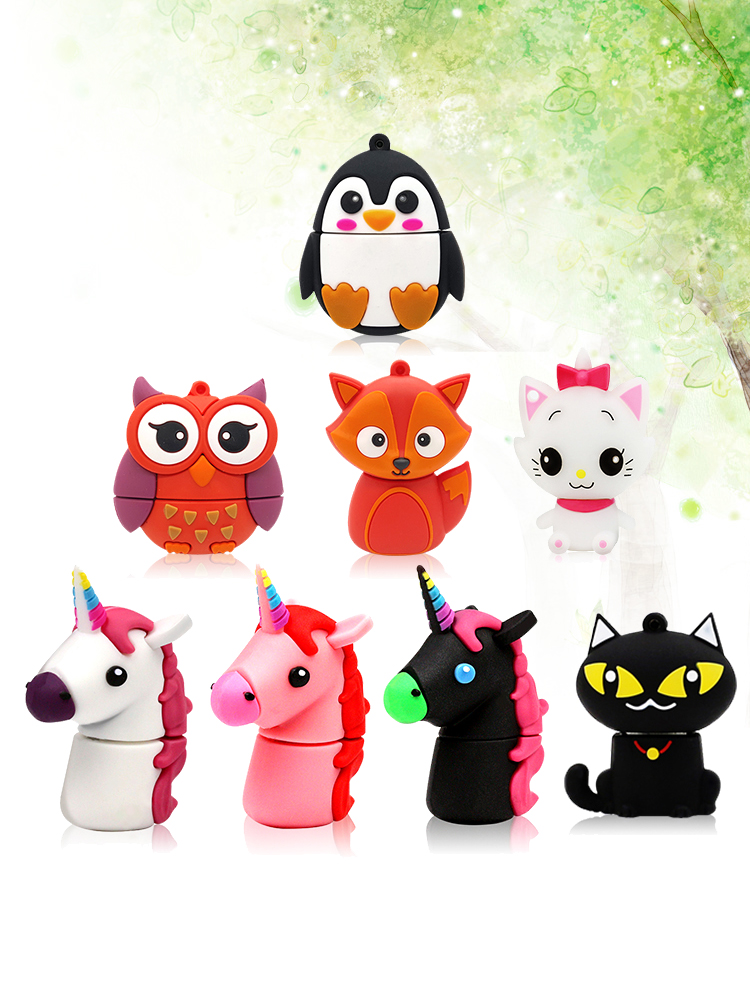 UNicorn Usb 2.0 CARTOON 256gb USb Flash Drive 128gb Flash Memoria 32 GB Pendrive 64GB USb Stick Flash Memory DISK Pen Drive 16gb