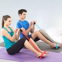 Эластичные ленты для фитнеса с 4 трубками тренировочная лента
