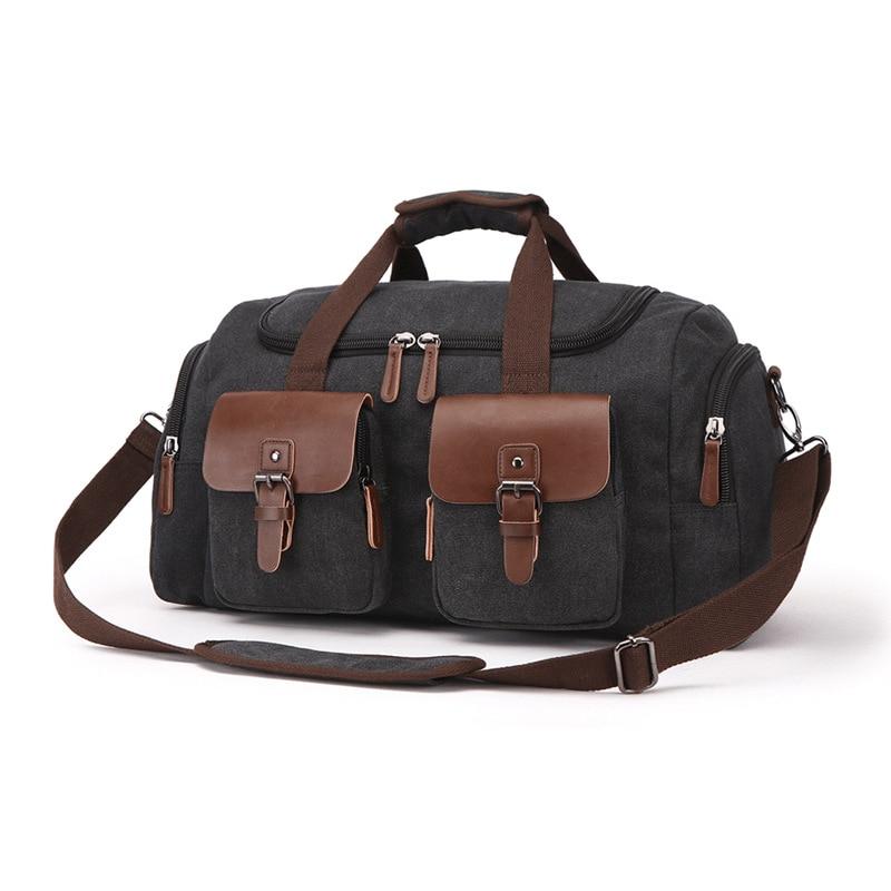 Европейская и американская дорожная сумка, Холщовая Сумка, дорожная сумка, мужская сумка на плечо, сумка мессенджер - 5