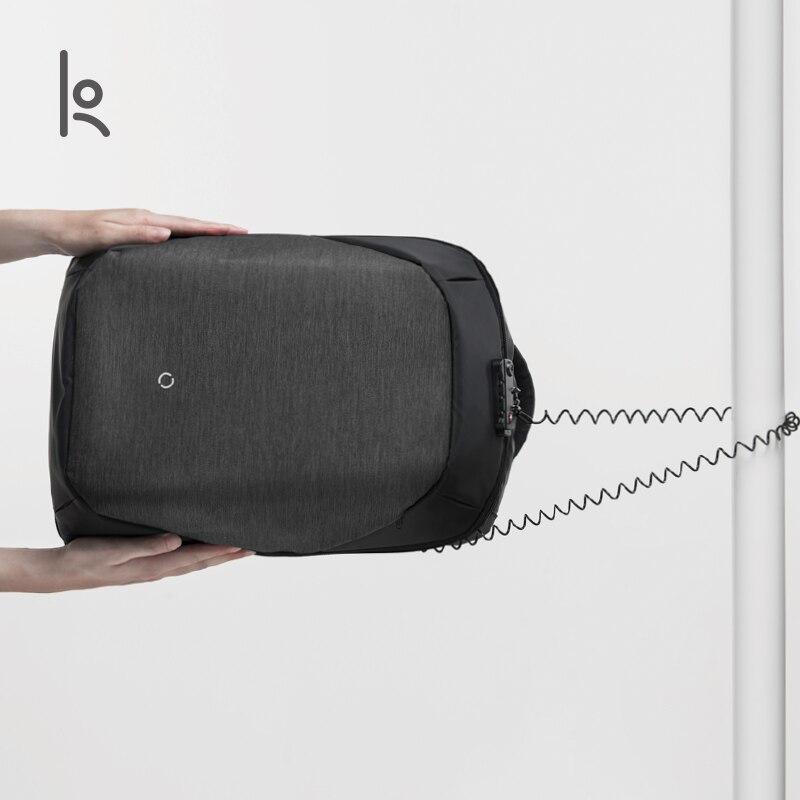 Korin デザインクリック複数の抗泥棒バックパック男性ラップトップバックパック 15.6 インチ USB 充電大型防水旅行のバックパック男性  グループ上の スーツケース & バッグ からの バックパック の中 2