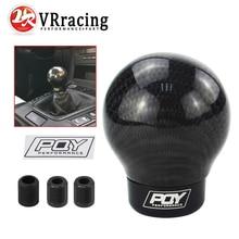 VR-настоящая карбоновая алюминиевая ручка переключения передач, ручная коробка передач, алюминиевая PQY ручка переключения передач для Honda VW BMW W/PQY, наклейка GSK07