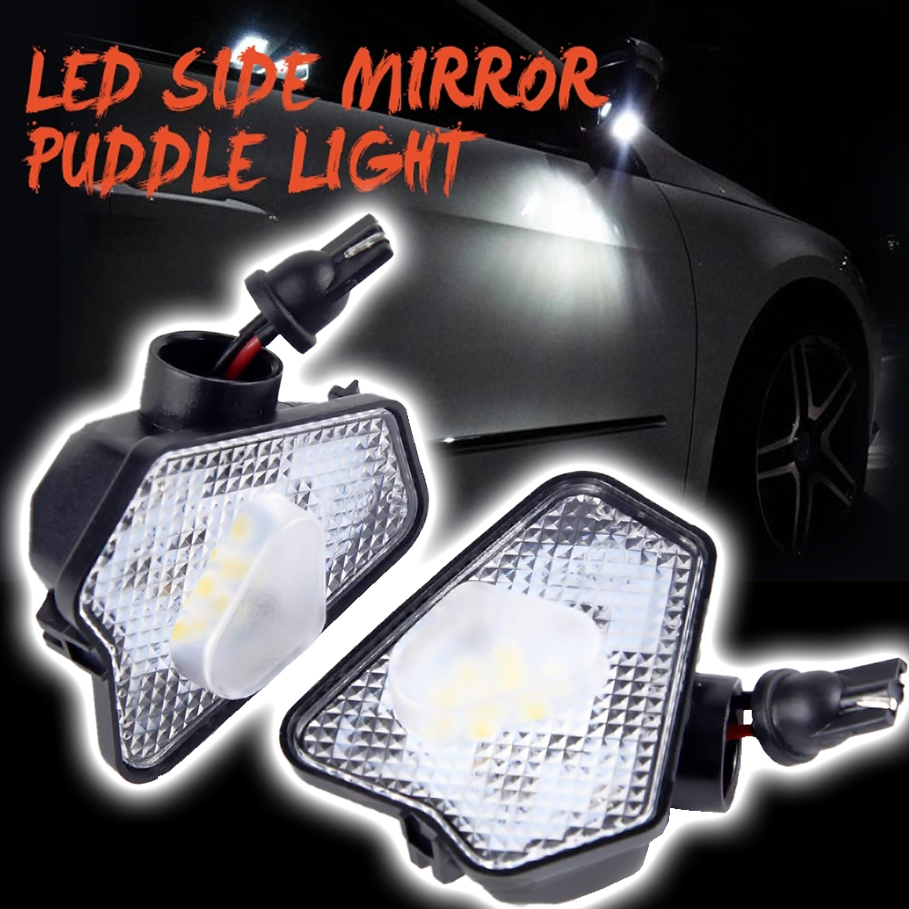 2x 9smd LED Under Side Mirror Puddle <font><b>Light</b></font> For Mercedes <font><b>Benz</b></font> W204 W212 W176 W246 C219 <font><b>W221</b></font> ACES CLS GLK Class car puddle lamp image
