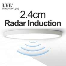 LED Radar Induction โคมไฟเพดาน 12W 18W 24W 220Vac Motion Sensor พื้นผิวโมเดิร์นโคมไฟเพดานสำหรับทางเดิน Corridor