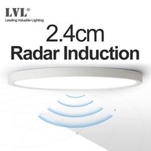 Lampada da soffitto a induzione Radar a LED 12W 18W 24W 220Vac sensore di movimento lampada da soffitto moderna montata su superficie per corridoio corridoio