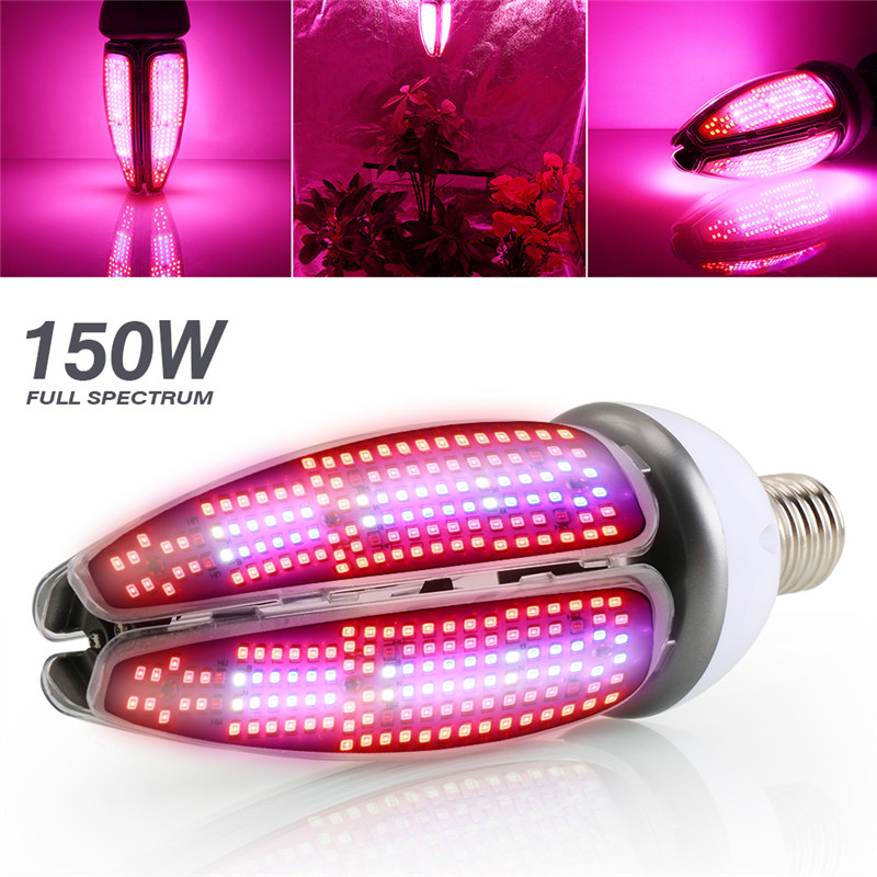 150W LED Grow Light E27 E40 Plants Lamp Full Spectrum AC85-265V Pitolampy For Indoor Hydroponics Plant Seed Growth Flower Bloom