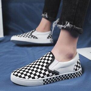 Image 4 - Новинка сезона весна осень 2019, модные парусиновые туфли без застежки, удобная обувь для вождения, Уличная Повседневная обувь