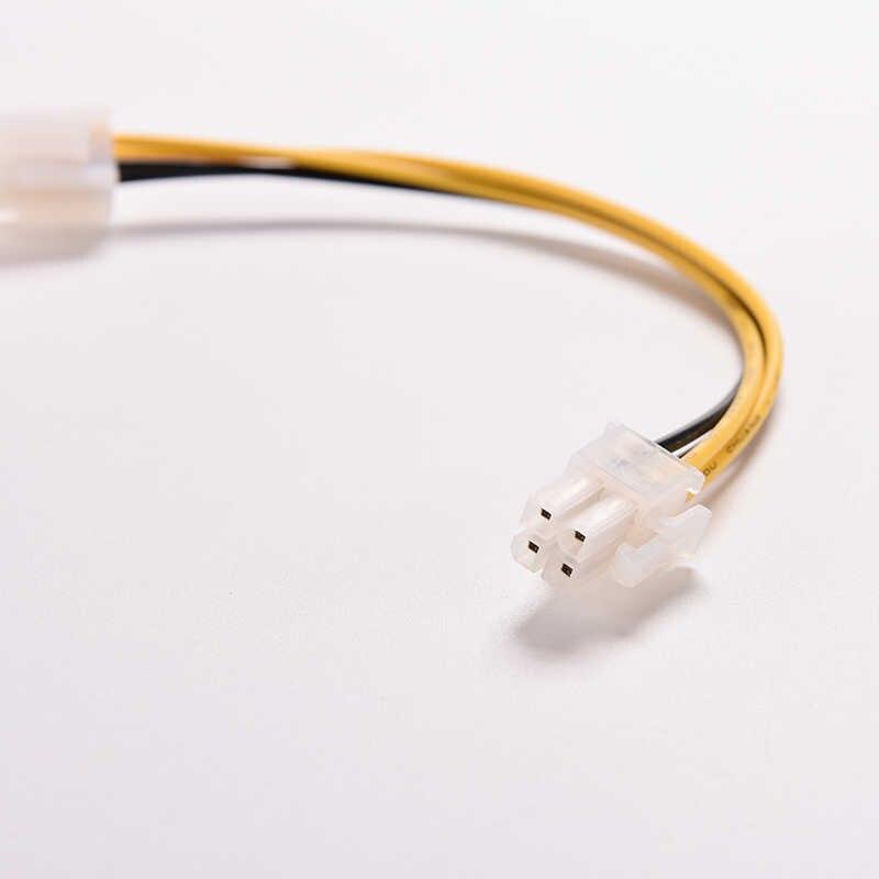 """הארכת כבל כבל מחבר מתאם 20cm מעבד כוח כבל 8 """"אינץ ATX 4 פין זכר 4Pin נשי מחשב מעבד אספקת חשמל"""