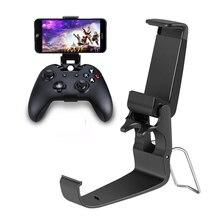Abrazadera de teléfono inteligente/Clip de juego apto para Microsoft Xbox One control Delgado soporte de teléfono móvil para XBOX ONE S Gamepad Joypad