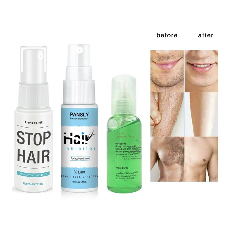 2in1 Inhibits Hair Growth Sprays Whole Body Removal And Prevents Hair Growth Being Mild Moisturizing Non-Irritating TSLM1