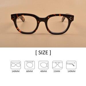 Image 4 - New Johnny Depp Glasses Men Women Optical Glasses Frame Brand design Computer Transparent Eyeglass Acetate Vintage Q321 2