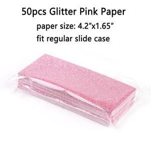 Image 2 - 50pcs גליטר רקע נייר עבור 11x5cm הזזה מקרי מקצועי אריזת אביזרי עבור עפעף מקרה