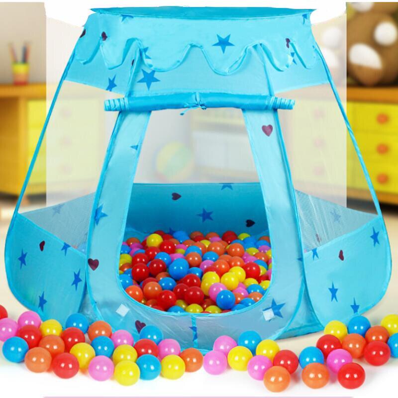 Детская палатка портативный домик Принцесса замок дети вигвам океан шар Питьевая детская манеж игрушки для шара подарок на день рождения Р...