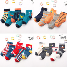5 Pairs Cotton Socks Autumn Winter Soft Cartoon For Lovely Cute Socks Girls Children Kids Socks Toddler Boys Fashion Sport Socks yooap 5 pairs children autumn winter cartoon socks for girls kids for girls to school sport baby girl clothes baby boy socks