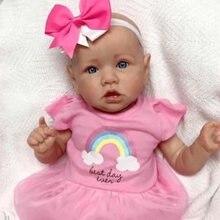 Кукла реборн силиконовая милая розовая кукла для мальчиков и
