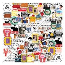 34/50 Uds amigos TV Show carta Anime Vintage Paster regalo juguete divertido calcomanía Scrapbooking DIY teléfono Laptop pegatinas regalos F4